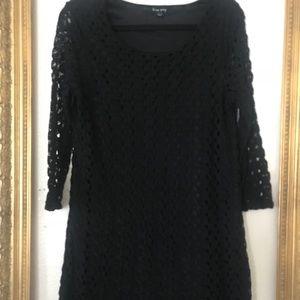 Dresses & Skirts - Nordstrom black knitted dress 3/4 sleeve L